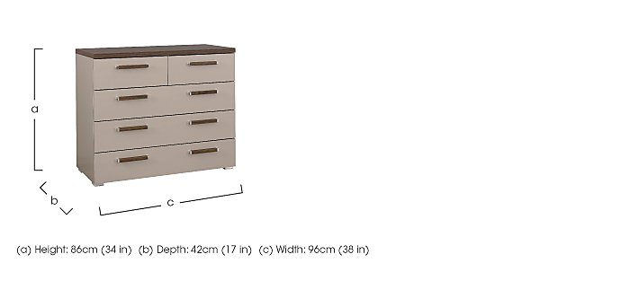 Rauch Seta 5 Drawer Wide Chest in  on FV
