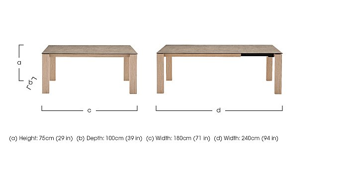 Sigma Extending Dining Table in  on FV
