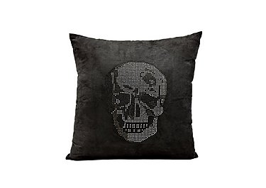 Rhinestone Skull Cushion in  on FV