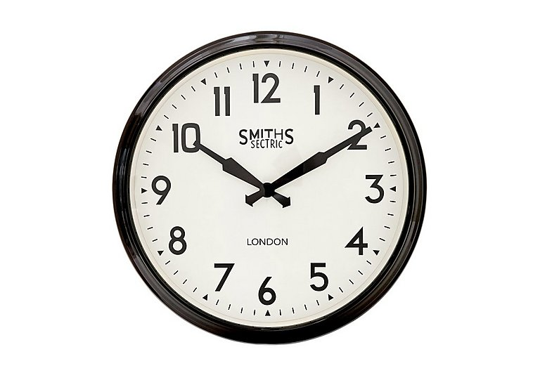 Smith's Retro Clock Black in  on FV