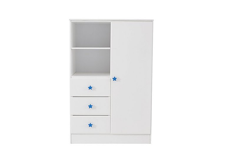 Supernova 1 Door Wardrobe with 3 Drawers & Shelf in  on FV