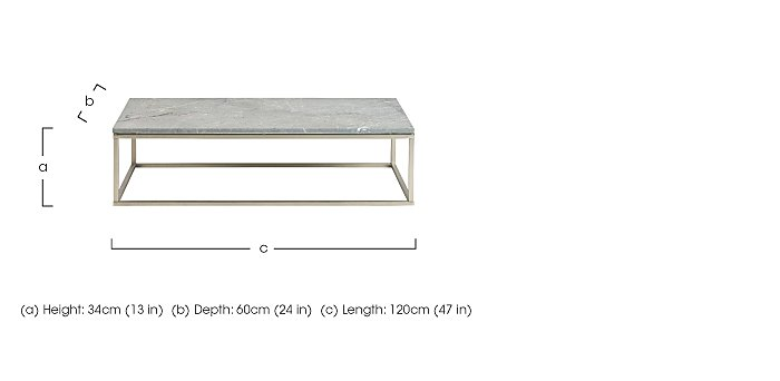 Sirocco 120cm Coffee Table in  on FV