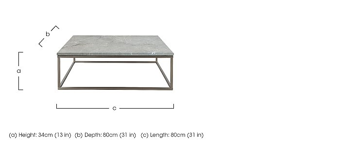 Sirocco 80cm Coffee Table in  on FV