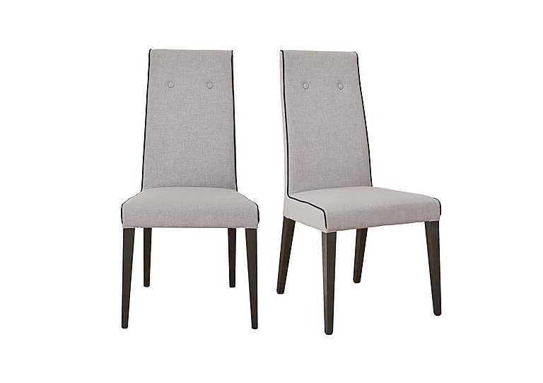 St Moritz Pair of Fabric Upholstered Dining Chairs in  on FV