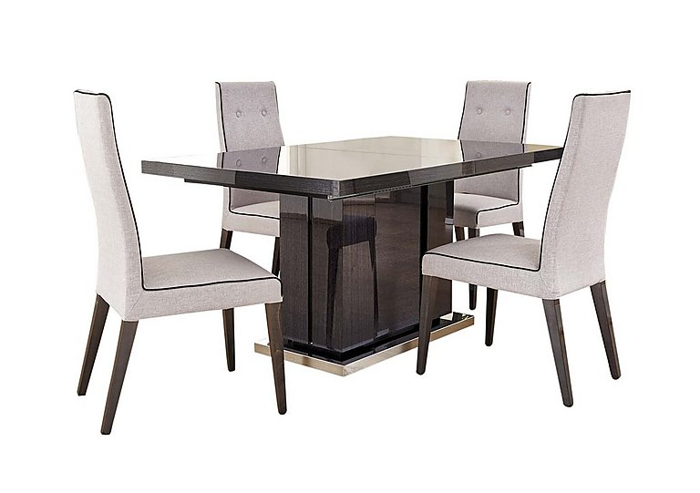 St Moritz Extending Dining Table and 4 Fabric Upholstered Dining Chairs in  on FV