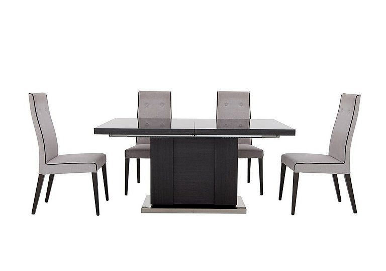 St Moritz Extending Table and 4 Fabric Upholstered Chairs