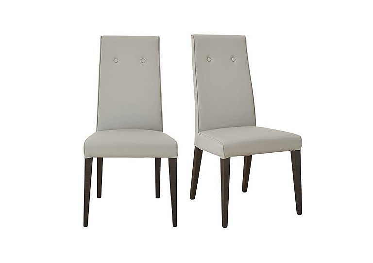 St Moritz Pair of Faux Leather Upholstered Dining Chairs in  on FV