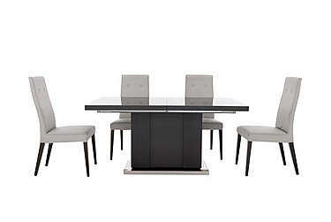 St Moritz Extending Table and 4 Faux Leather Upholstered Chairs in  on FV