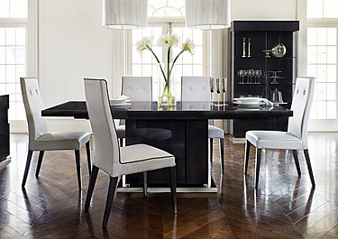 St Moritz Extending Dining Table and 4 Faux Leather Upholstered Dining Chairs in  on FV