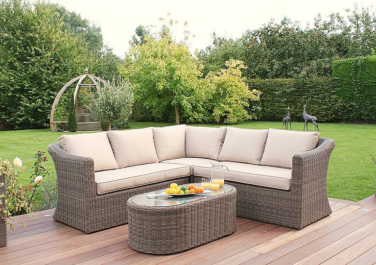 Savannah Small Corner Rattan Lounge Set in  on FV