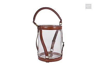 Tan Medium Leather Lantern  in {$variationvalue}  on FV