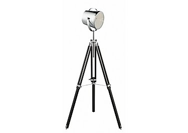 Chrome Tripod Spotlight Floor Lamp