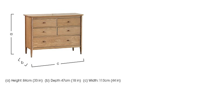 Teramo 5 Drawer Wide Chest  in {$variationvalue}  on FV