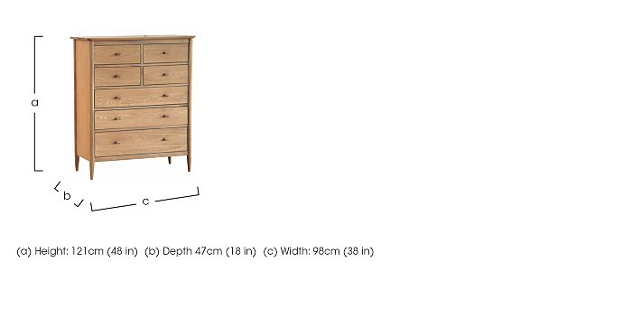 Teramo 7 Drawer Tall Chest in  on Furniture Village