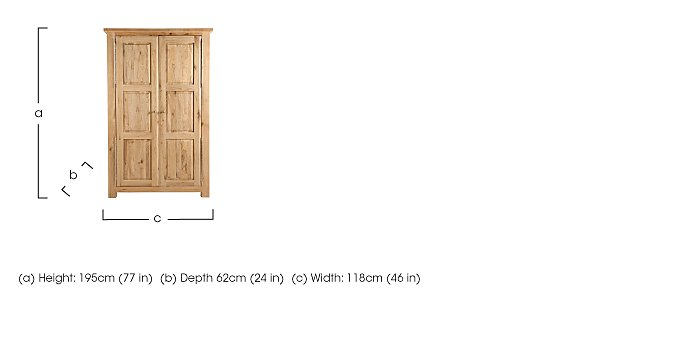 Tuscan Hills Premium Double Wardrobe in  on FV