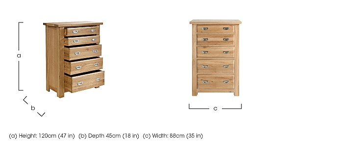 Tuscan Hills 5 Drawer Chest in  on FV