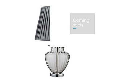 Urn Smoked Chrome Table Lamp in  on FV