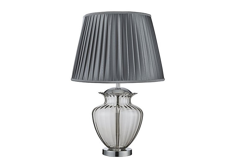 Urn Smoked Chrome Table Lamp in  on Furniture Village