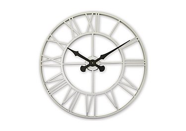 Vintage Cream Metal Wall Clock in  on FV
