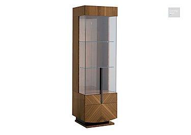 Verona 1 Door Left Hand Facing Curio Cabinet  in {$variationvalue}  on FV