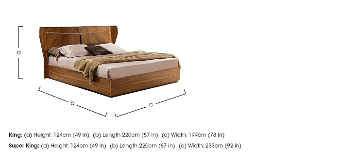 Verona King Size Bedstead  in {$variationvalue}  on FV