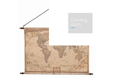 Vintage Hanging Wall Map in  on FV
