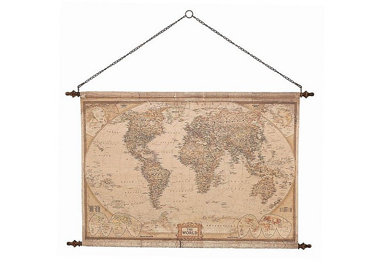 Vintage Hanging Wall Map in  on Furniture Village