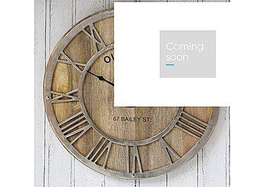 Mango Wood Wall Clock in  on FV