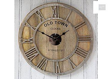 Mango Wood Wall Clock  in {$variationvalue}  on FV