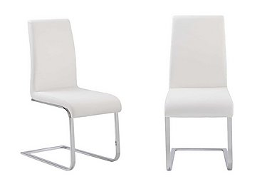 Corfu Pair of Faux Leather Chairs - Limited Stock