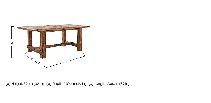 Eco Large Wooden Dining Table - Only One Left! in  on FV