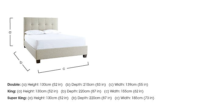 Hadley King Size Ottoman Bed Frame - Only One Left! in  on FV