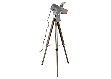 Wooden Tripod Film Floor Lamp