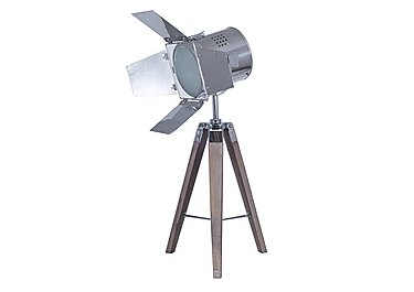 Wooden Tripod Film Table Lamp in  on Furniture Village