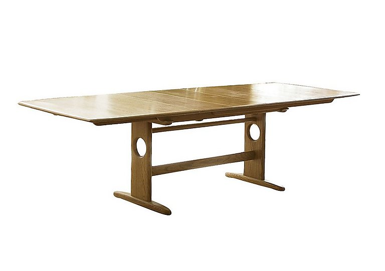 Windsor Large Extending Dining Table in Straw Finish (St) on FV