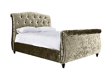 Evelyn High Foot End Bed Frame in Plush Oyster on FV