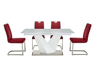Panama Dining Table and 4 Chairs
