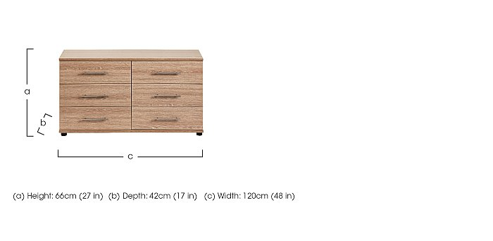 Amari 6 Drawer Chest in  on FV