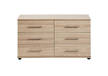 Amari 6 Drawer Chest in Kkv - King Oak on Furniture Village