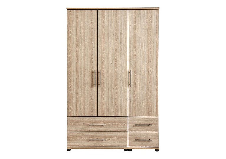 Amari 3 Door Gents Wardrobe in Kkv - King Oak on FV