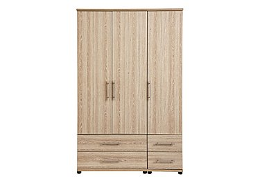 Amari 3 Door Gents Wardrobe in Kkv - King Oak on Furniture Village