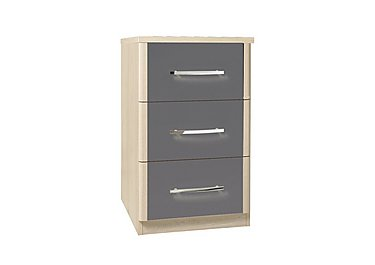 Kingsley 3 Drawer Narrow Chest in Atv - Tristan Grey on FV