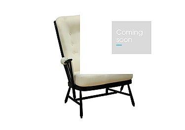 Evergreen High Back Easy Chair in Black  Bk on FV