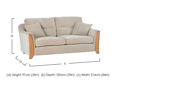 Ravenna 3 Seater Fabric Sofa in  on FV