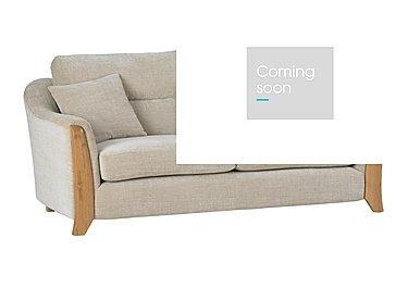 Ravenna 3 Seater Fabric Sofa in C415 Wood Finish on FV