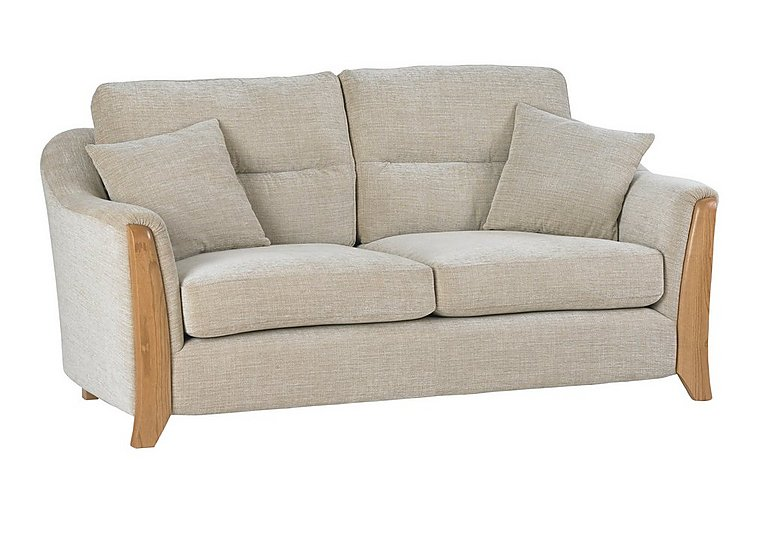 Ravenna 2 Seater Fabric Sofa in C415 Wood Finish on FV