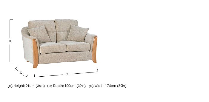 Ravenna Small 2 Seater Fabric Sofa in  on FV