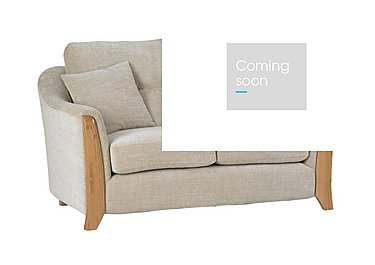 Ravenna Small 2 Seater Fabric Sofa in C415 Wood Finish on FV