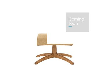 Gina Leather Footstool in L524  Wood Finish on FV