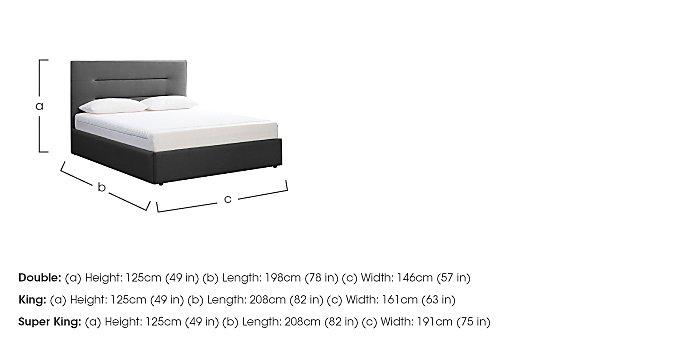 Options Bedstead & 21cm Sensation Mattress with Profile Headboard  in {$variationvalue}  on FV